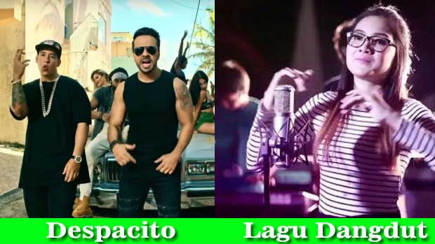 despacito vs dangdut indonesia
